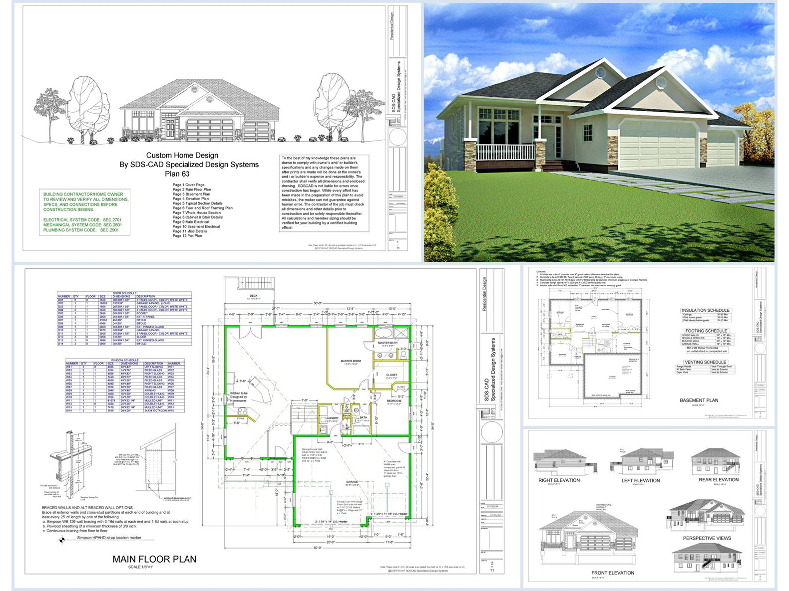 100 house plans catalog page 007 9 plans for Home planners house plans