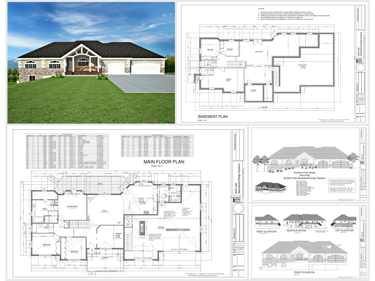 100 house plans catalog page 018 9 plans for House design pdf