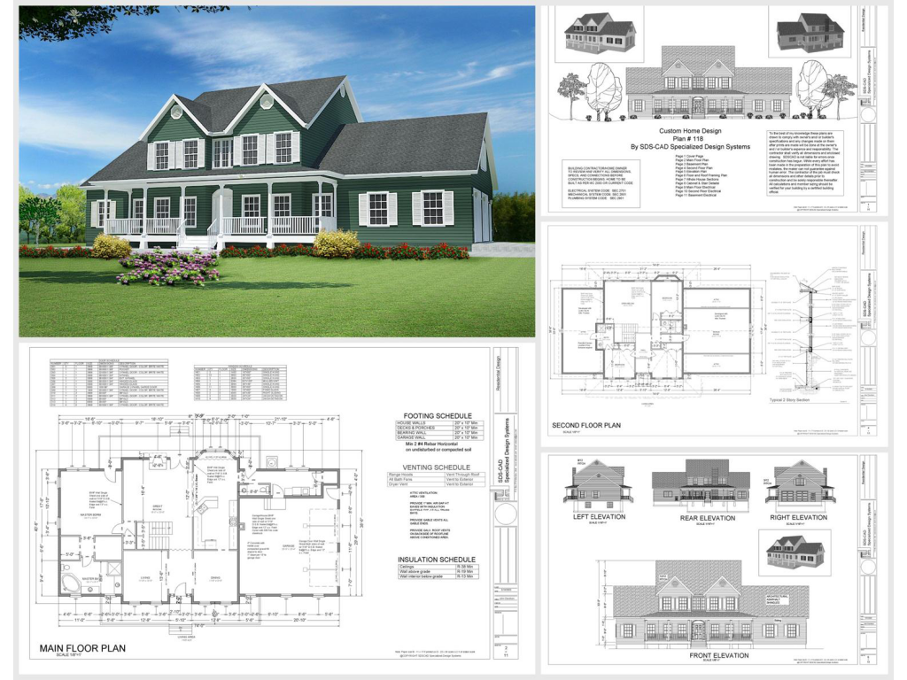 100 house plans catalog page 025 9 plans - Home design sheets ...