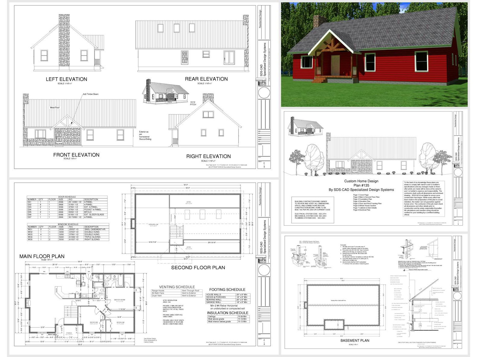 100 House Plans Catalog Page 034 9 Plans