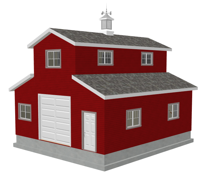 G503 26 x 30 x 10 monitor barn render 9 plans for 26 x 26 garage plans