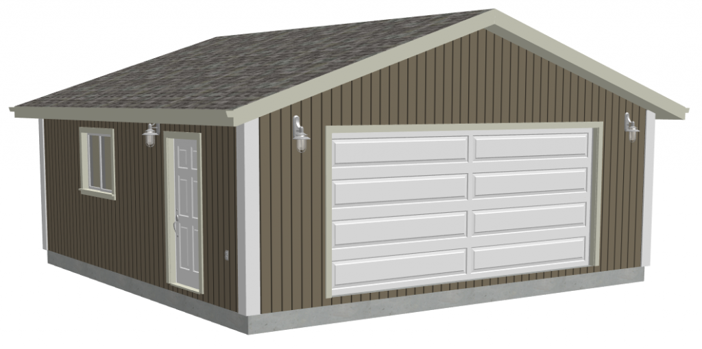 G518 24 x 24 x 8 garage plans 9 plans for 24 by 24 garage plans