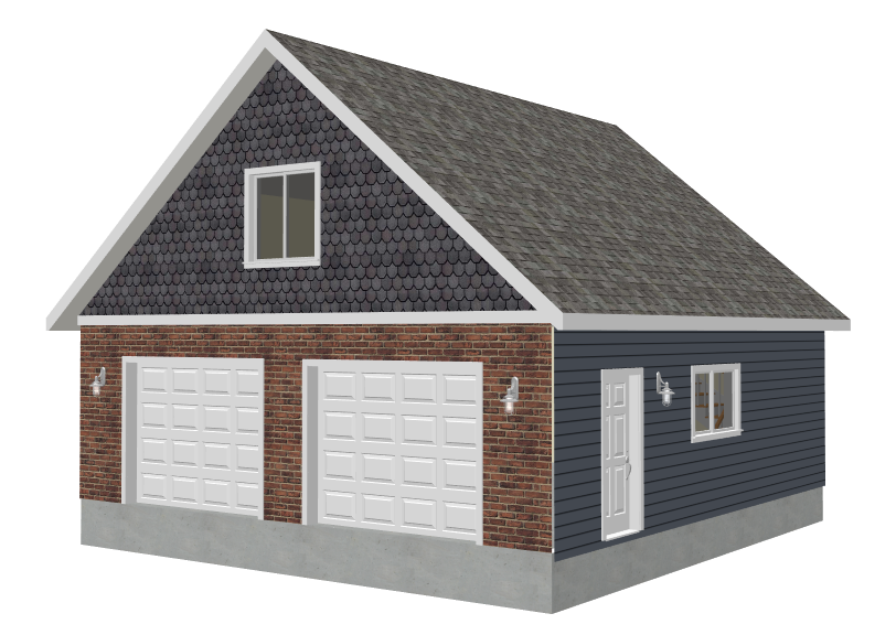 Pole barn home plans with loft joy studio design gallery for Free garage plans
