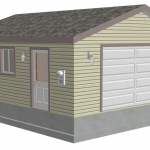 Gambrel barn plans ebay for 20 x 24 garage plans