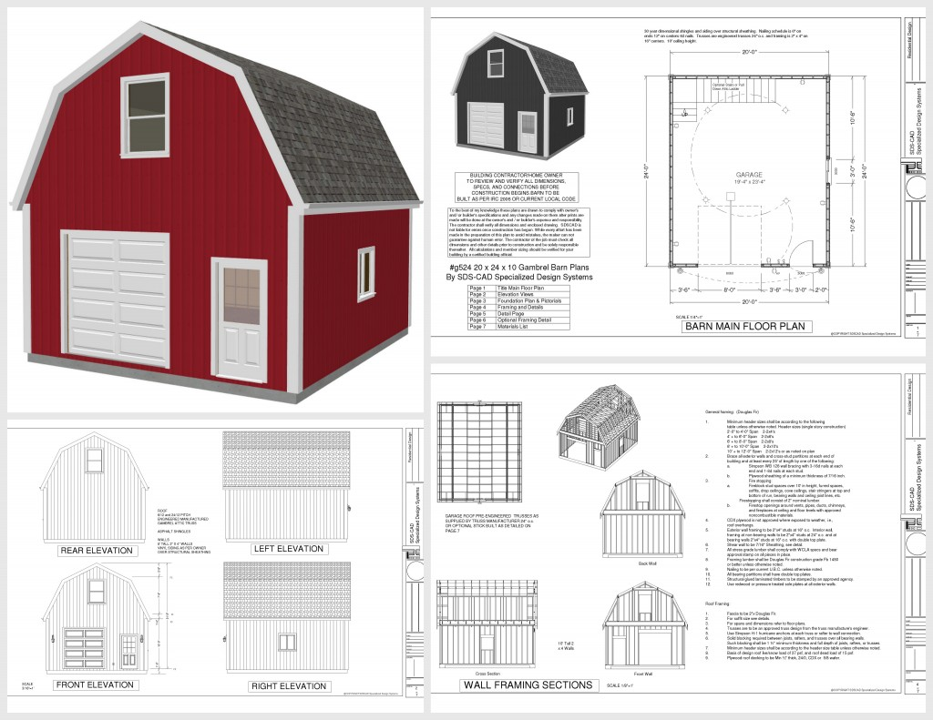 Gerry woodworkers next shed plans 10 x 20 for Gambrel roof garage plans